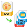 Export nsf to eml,msg,pdf